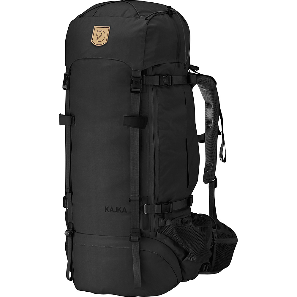 Fjallraven Kajka Backpack 65 Black - Fjallraven Day Hiking Backpacks - Outdoor, Day Hiking Backpacks