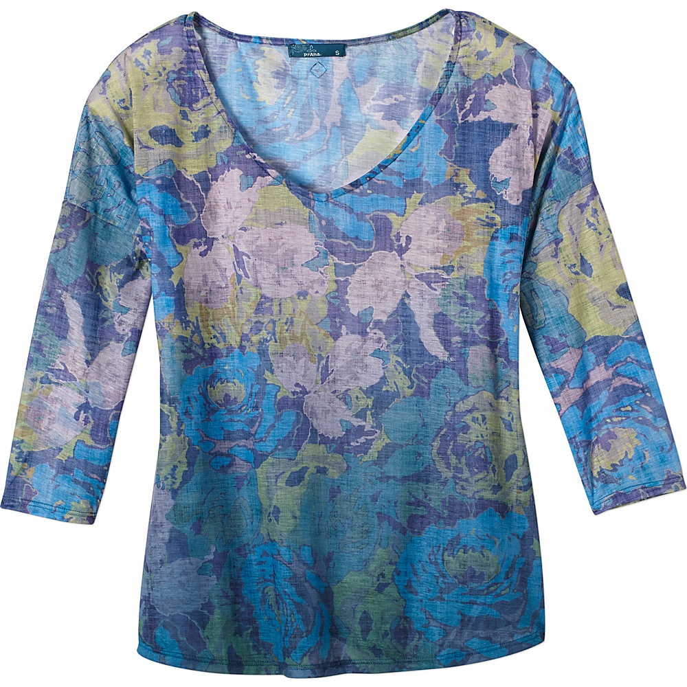 PrAna Botanical Top S - Harbor Blue - PrAna Womens Apparel - Apparel & Footwear, Women's Apparel