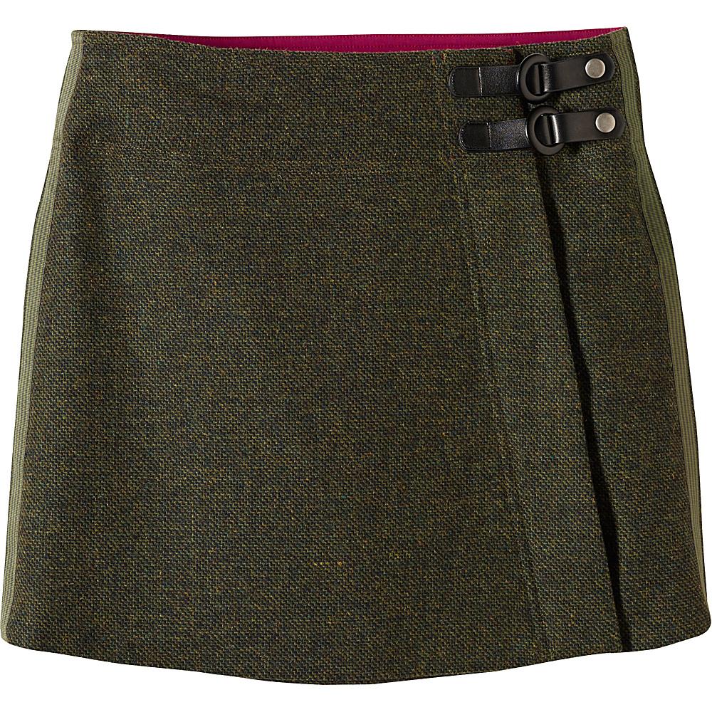 PrAna Quincy Skirt L - Dark Olive - PrAna Womens Apparel - Apparel & Footwear, Women's Apparel