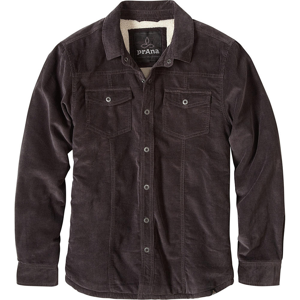 PrAna Gomez LS Corduroy Jacket S - Charcoal - PrAna Mens Apparel - Apparel & Footwear, Men's Apparel