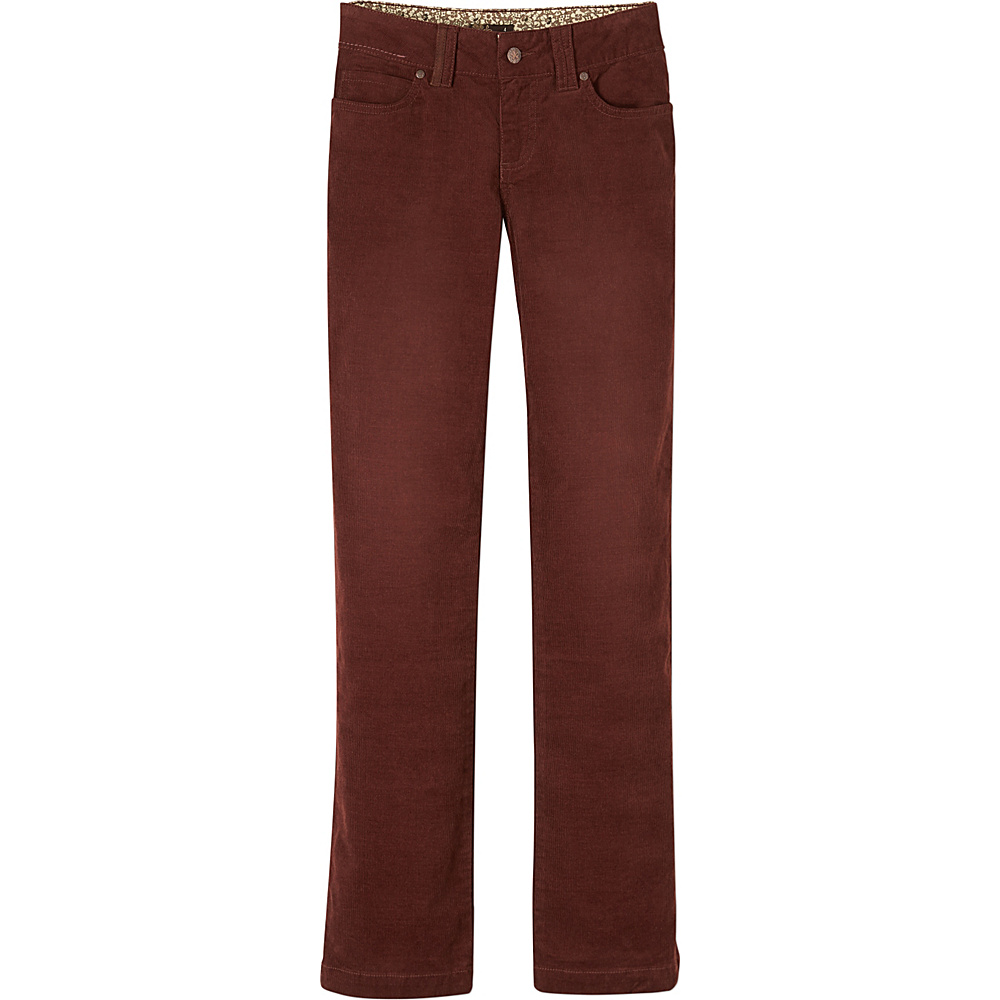 PrAna Crossing Cord Pant - Tall 0 - Dark Umber - PrAna Womens Apparel - Apparel & Footwear, Women's Apparel
