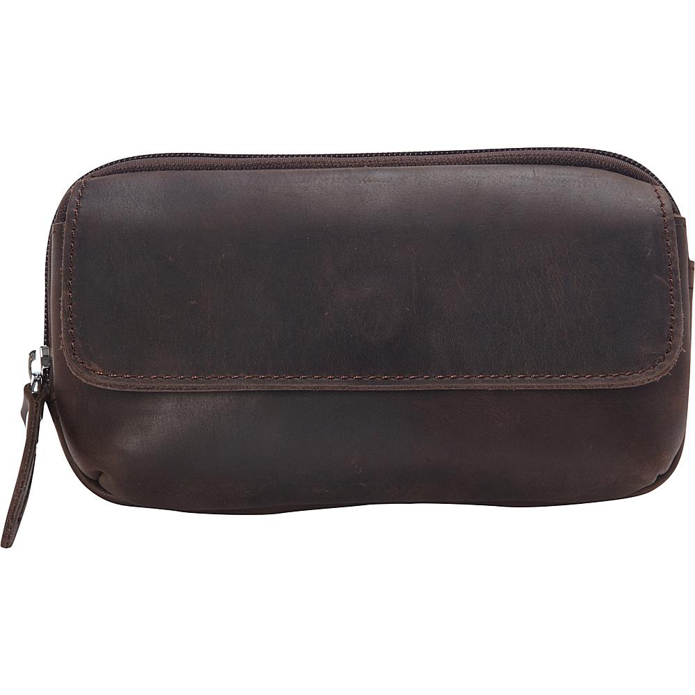 Vagabond Traveler Cowhide Leather Belt Phone Holder Dark Brown - Vagabond Traveler Electronic Cases - Technology, Electronic Cases