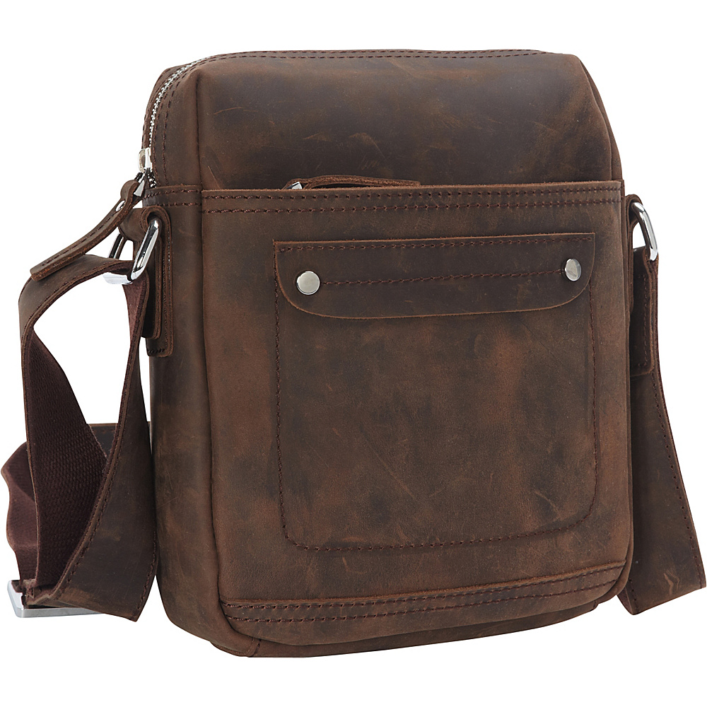 Vagabond Traveler Full Grain Leather Shoulder Bag Vintage Distress - Vagabond Traveler Other Mens Bags - Work Bags & Briefcases, Other Men's Bags