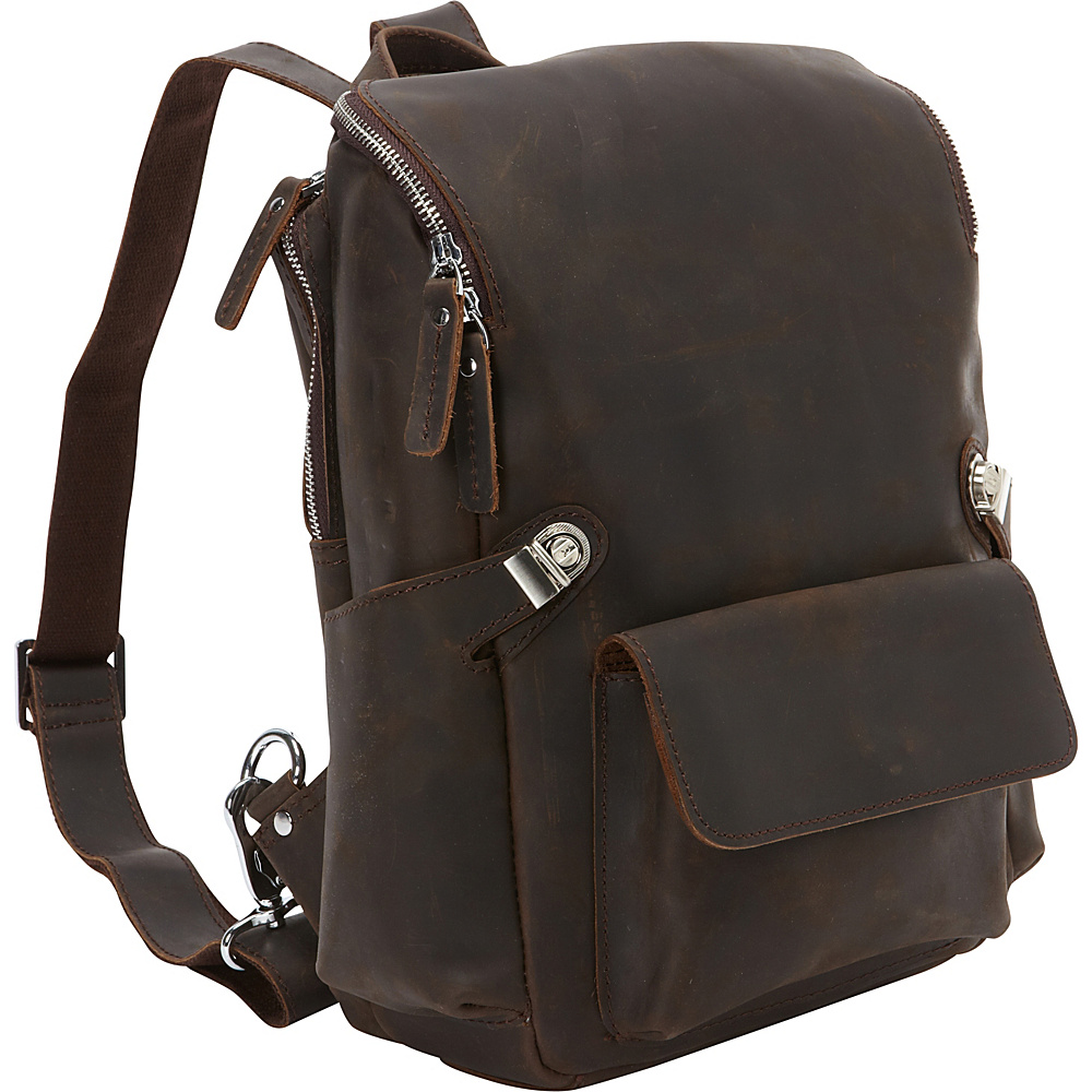 Vagabond Traveler Full Grain Cowhide Leather Backpack Dark Brown - Vagabond Traveler Everyday Backpacks - Backpacks, Everyday Backpacks