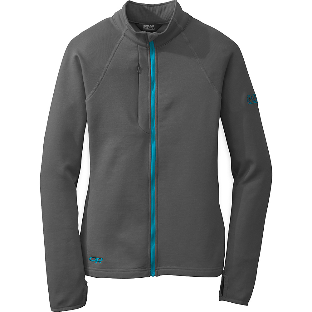 Outdoor Research Womens Radiant Hybrid Jacket S - Charcoal/Rio - Outdoor Research Womens Apparel - Apparel & Footwear, Women's Apparel