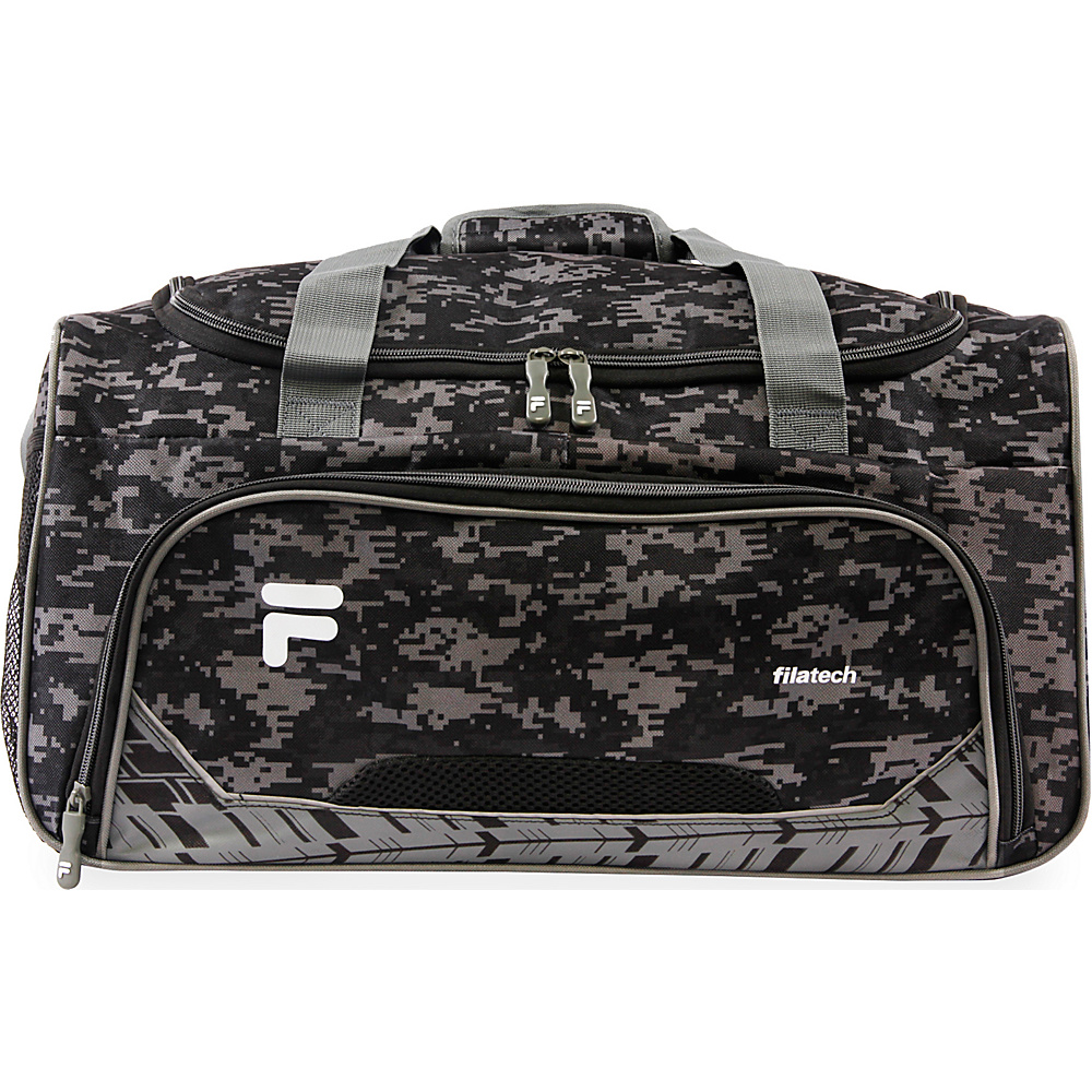 Fila Source Small Gym Duffel Bag Black Digi Camo Fila Gym Duffels