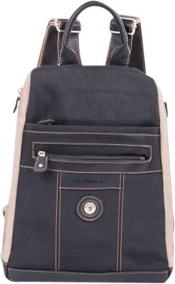 Mouflon Original RFID Bicolore Backpack Black/Taupe - Mouflon Original Fabric Handbags