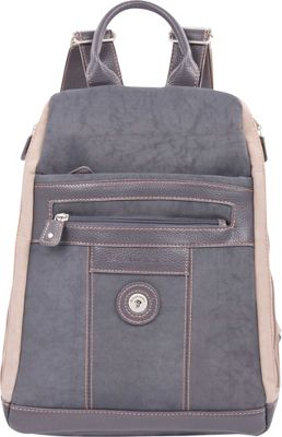 Mouflon Original RFID Bicolore Backpack Grey/Taupe - Mouflon Original Fabric Handbags