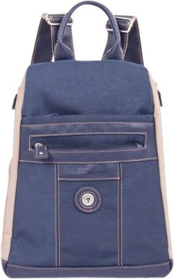 Mouflon Original RFID Bicolore Backpack Navy//Taupe - Mouflon Original Fabric Handbags