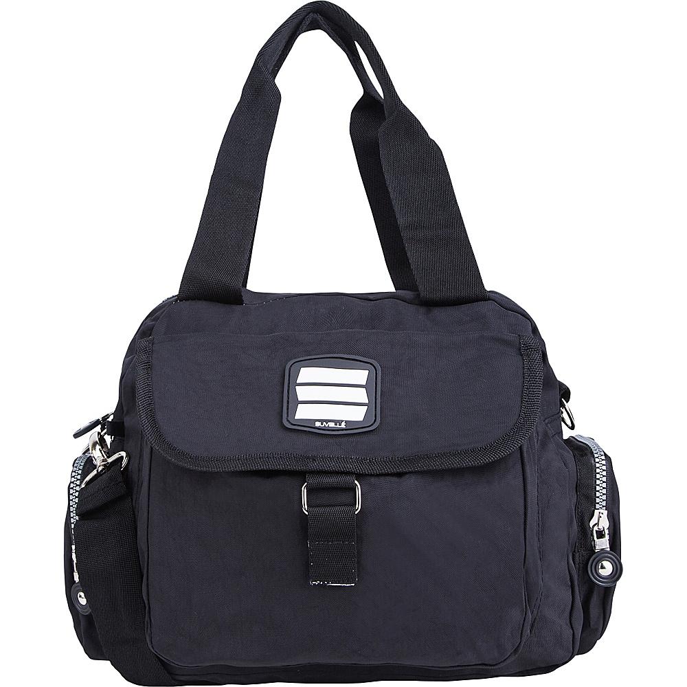 Suvelle Go Go Travel Everyday Crossbody Black Suvelle Fabric Handbags