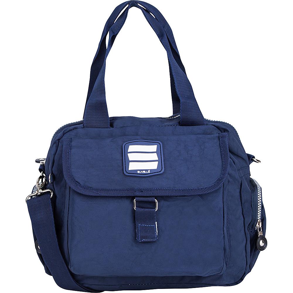 Suvelle Go Go Travel Everyday Crossbody Navy Suvelle Fabric Handbags