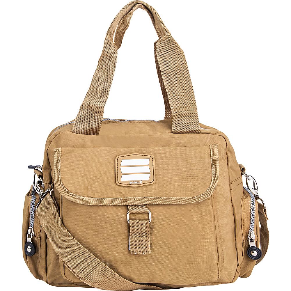 Suvelle Go Go Travel Everyday Crossbody Brown Suvelle Fabric Handbags