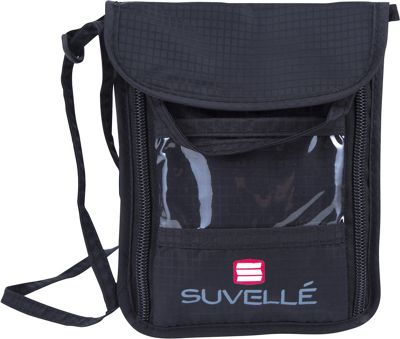 Suvelle RFID Neck Pouch Organizer and Travel Wallet Black - Suvelle Travel Wallets