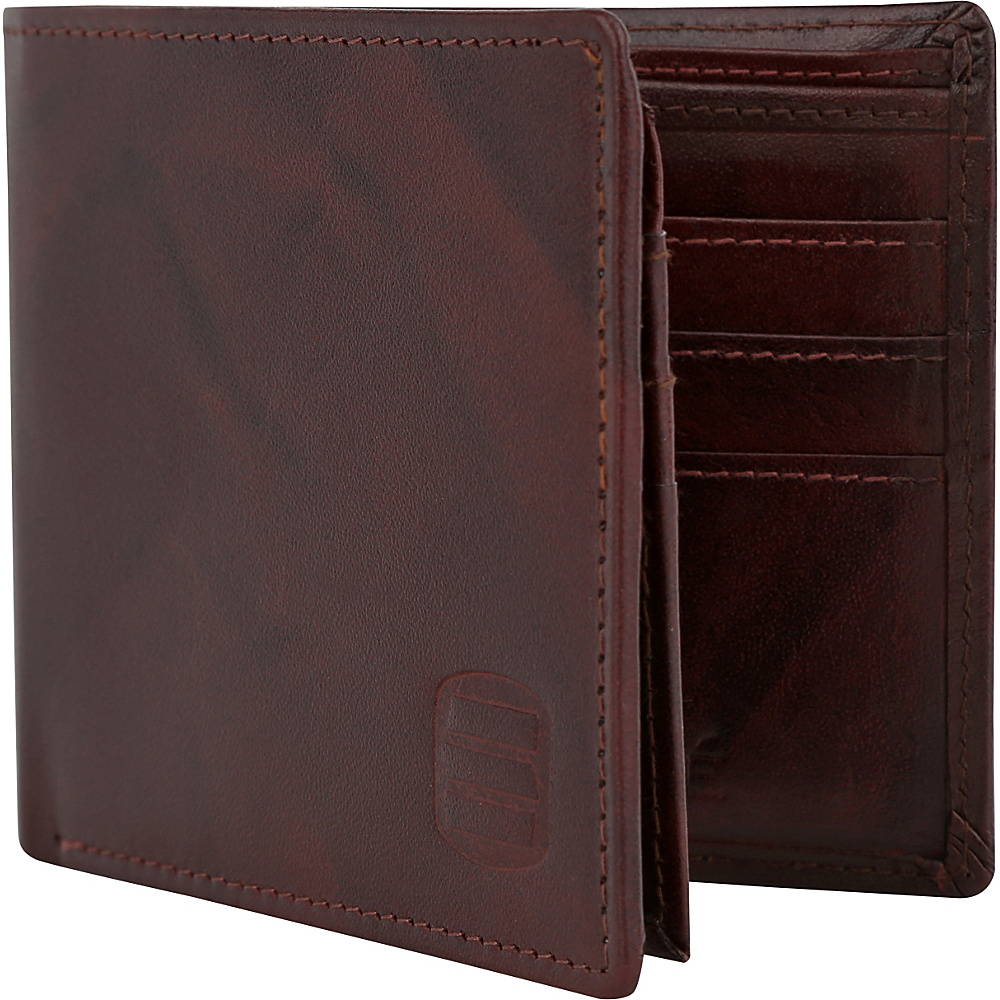 Suvelle Bifold Mens Genuine Leather Slim RFID Wallet Brown Suvelle Men s Wallets