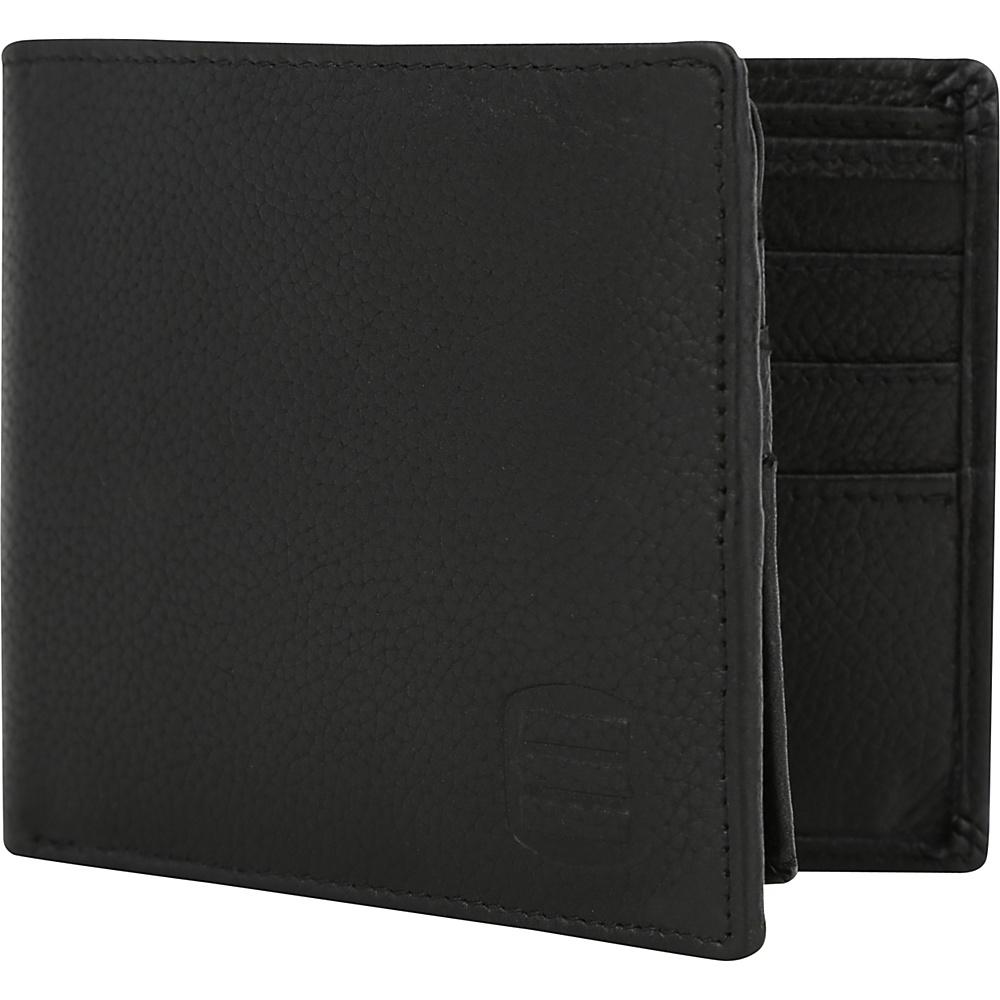 Suvelle Bifold Mens Genuine Leather Slim RFID Wallet Black Suvelle Men s Wallets
