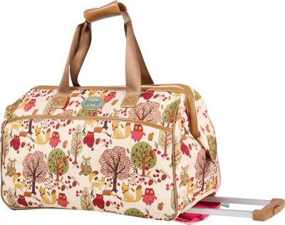 Lily Bloom 20 inch Wheeled Duffel Forest Owl - Lily Bloom Rolling Duffels