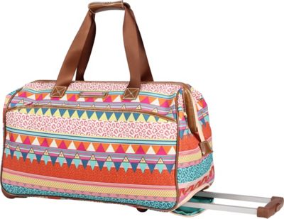 Lily Bloom 20 inch Wheeled Duffel On the Prowl - Lily Bloom Rolling Duffels