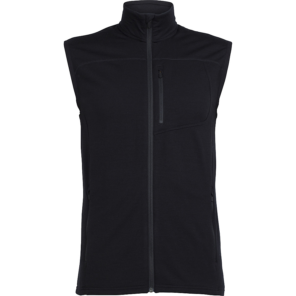 Icebreaker Mens Mt Elliot Vest M - Black - Icebreaker Mens Apparel - Apparel & Footwear, Men's Apparel