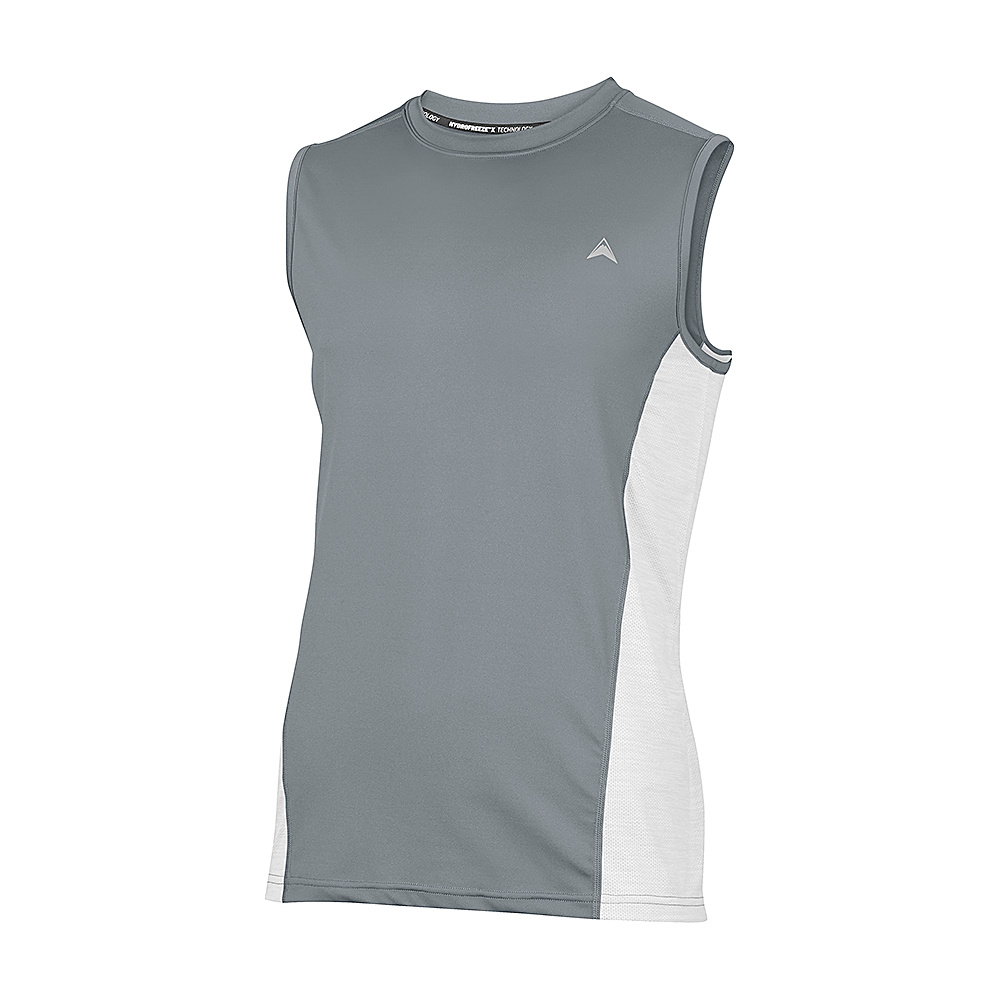 Arctic Cool Mens Sleeveless Instant Cooling Shirt with Mesh M Storm Grey Arctic Cool Men s Apparel
