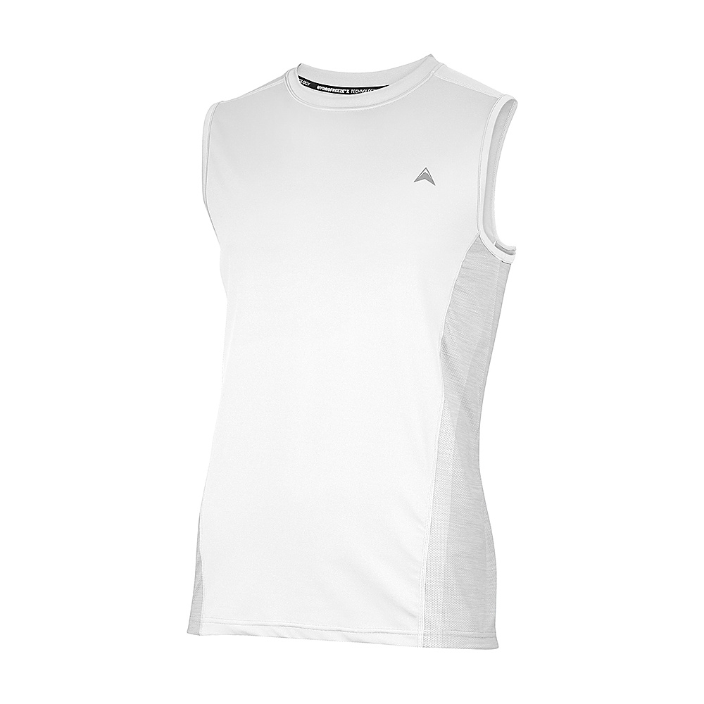 Arctic Cool Mens Sleeveless Instant Cooling Shirt with Mesh L Arctic White Arctic Cool Men s Apparel