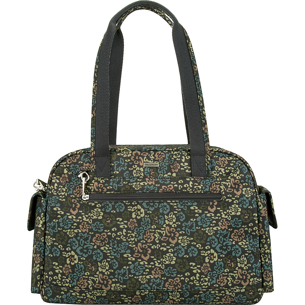 Travelon Anti-Theft Overnight Mini Duffle Bag with RFID - Exclusive Olive Floral - Travelon Travel Duffels - Duffels, Travel Duffels