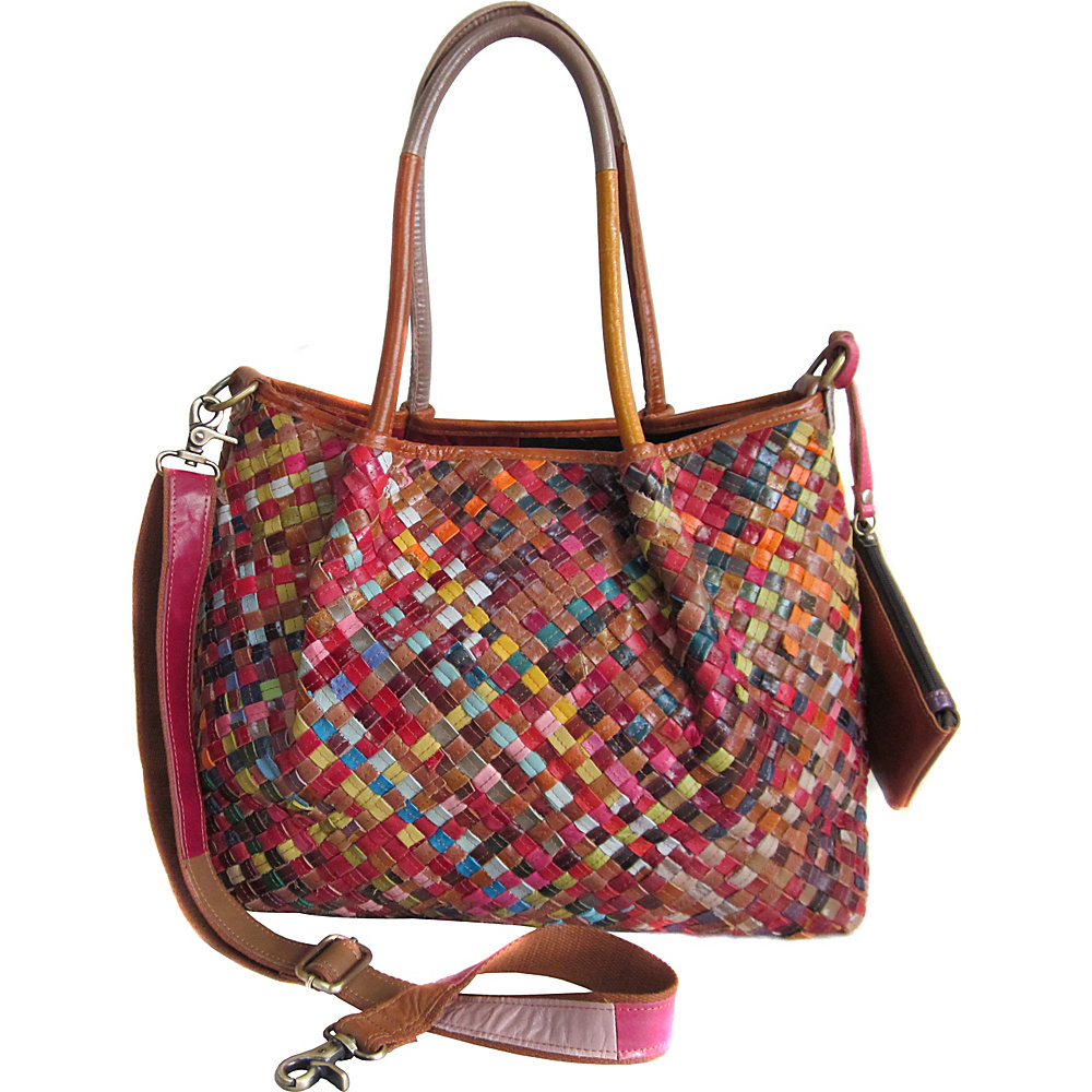 AmeriLeather Linwood Leather Tote Bag Rainbow - AmeriLeather Leather Handbags - Handbags, Leather Handbags