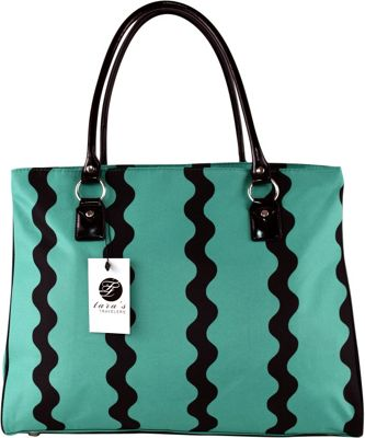 Tara's Travelers Zig-Zag Travel Tote Zig-Zag Turquoise - Tara's Travelers Luggage Totes and Satchels