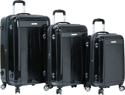 Dejuno Dejuno Venture 3-Piece Hardside Spinner TSA Lock Luggage Set Black - Dejuno Luggage Sets
