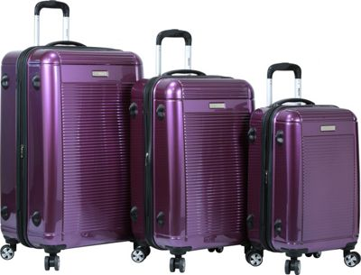 Dejuno Venture 3-Piece Hardside Spinner TSA Lock Luggage Set Purple - Dejuno Luggage Sets