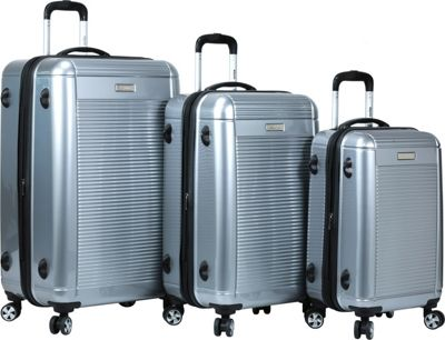 Dejuno Dejuno Venture 3-Piece Hardside Spinner TSA Lock Luggage Set Silver - Dejuno Luggage Sets