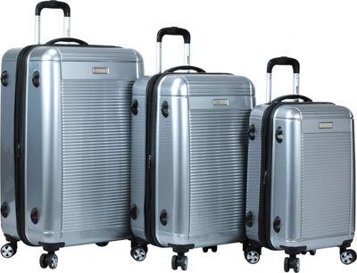 Dejuno Venture 3-Piece Hardside Spinner TSA Lock Luggage Set Silver - Dejuno Luggage Sets