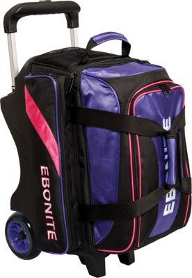 Ebonite Equinox Double Roller Bowling Bag Purple - Ebonite Bowling Bags