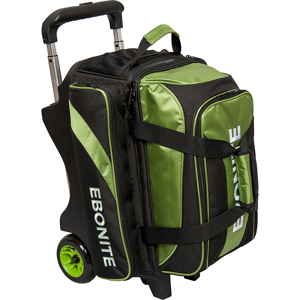 Ebonite Equinox Double Roller Bowling Bag Lime Ebonite Bowling Bags