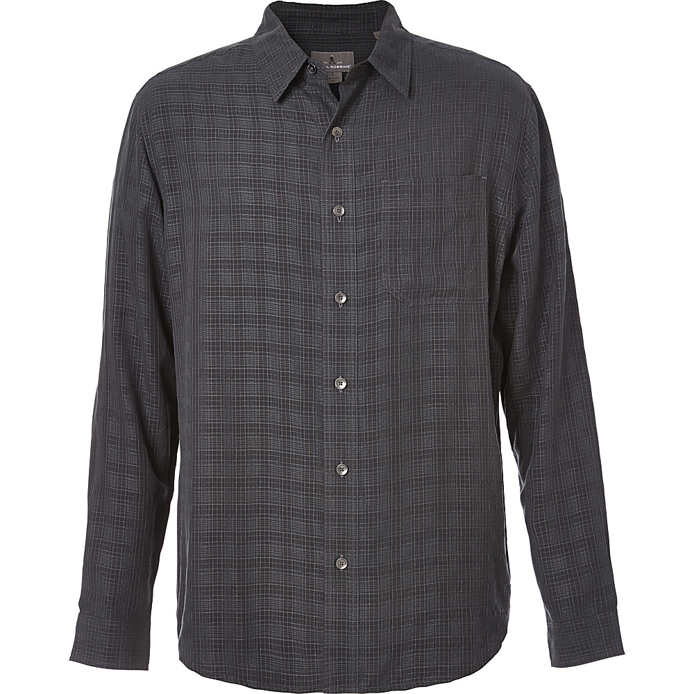 Royal Robbins San Juan Plaid Long Sleeve Top S - Obsidian - Royal Robbins Mens Apparel - Apparel & Footwear, Men's Apparel