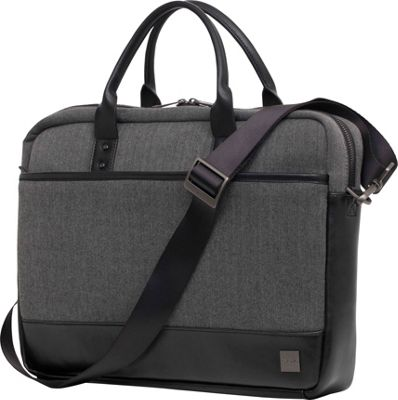 KNOMO London Holborn Princeton Laptop Brief Black Grey Heather - KNOMO London Non-Wheeled Business Cases