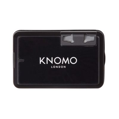 KNOMO London World Travel Adaptor Black - KNOMO London Electronic Accessories