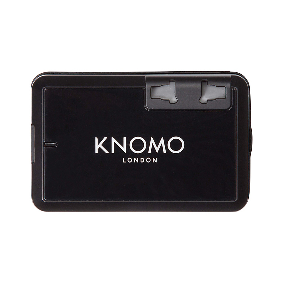 KNOMO London World Travel Adaptor Black KNOMO London Electronic Accessories