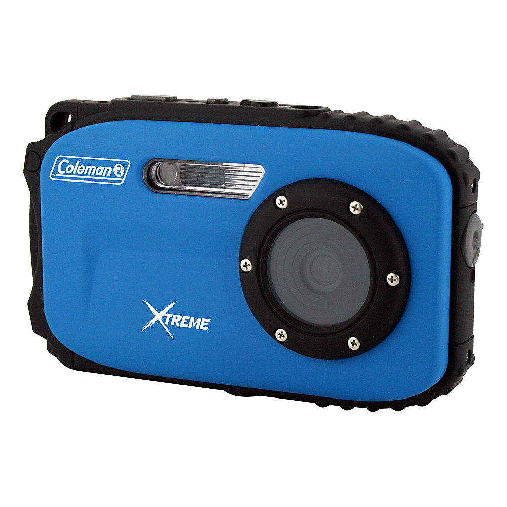 Coleman Xtreme 16.0 MP Underwater Digital Video Camera Waterproof to 33 ft Blue Coleman Cameras