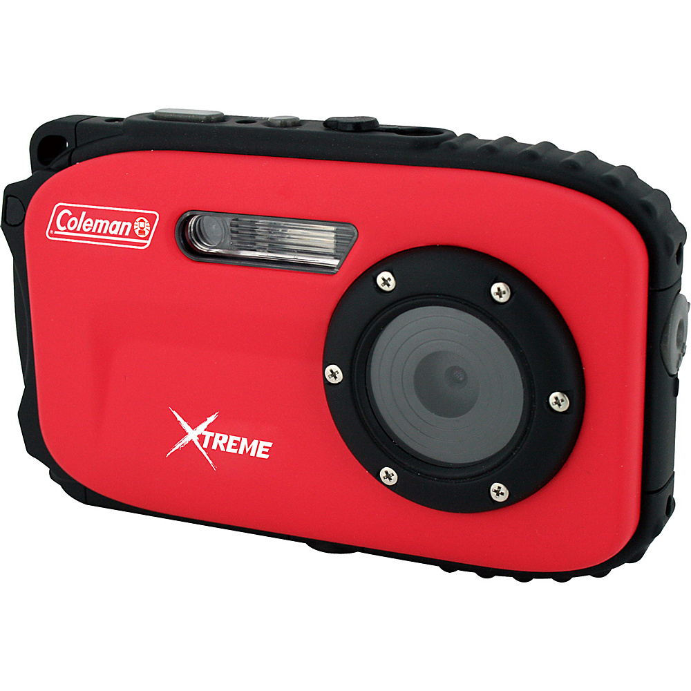 Coleman Xtreme 16.0 MP Underwater Digital Video Camera Waterproof to 33 ft Red Coleman Cameras