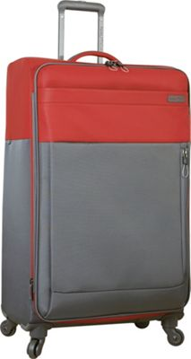 Nautica Harpswell 28 inch Expandable Spinner Red - Nautica Softside Checked