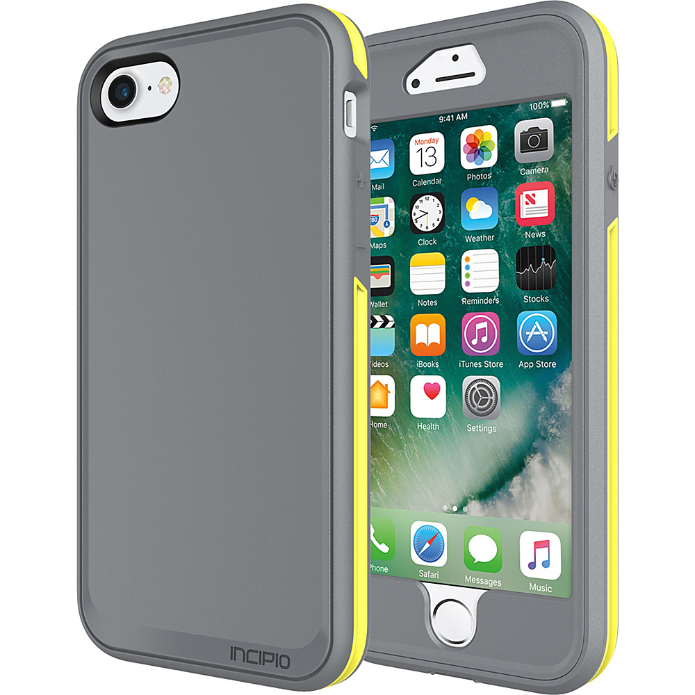 Incipio Performance Series Max for iPhone 7 Charcoal Gray/Yellow(CGY) - Incipio Electronic Cases - Technology, Electronic Cases