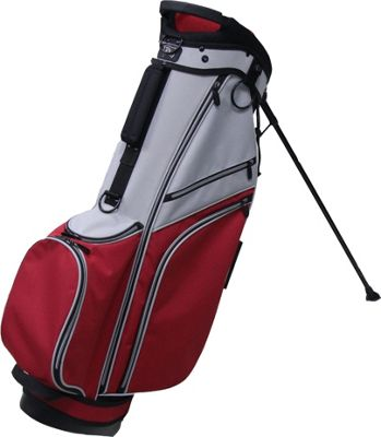 RJ Golf Deluxe Stand Bag Grey/Red - RJ Golf Golf Bags