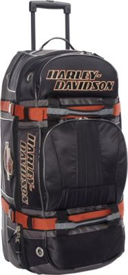 Harley Davidson by Athalon Harley Davidson 33 inch Wheeled Equipment Duffel Black - Harley Davidson by Athalon Travel Duffels