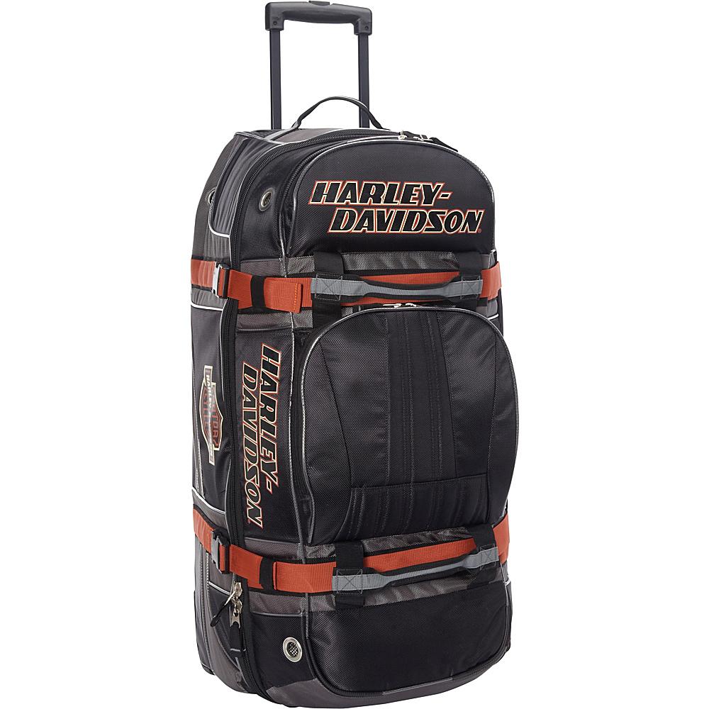 Harley Davidson by Athalon Harley Davidson 33 Wheeled Equipment Duffel Black Harley Davidson by Athalon Rolling Duffels