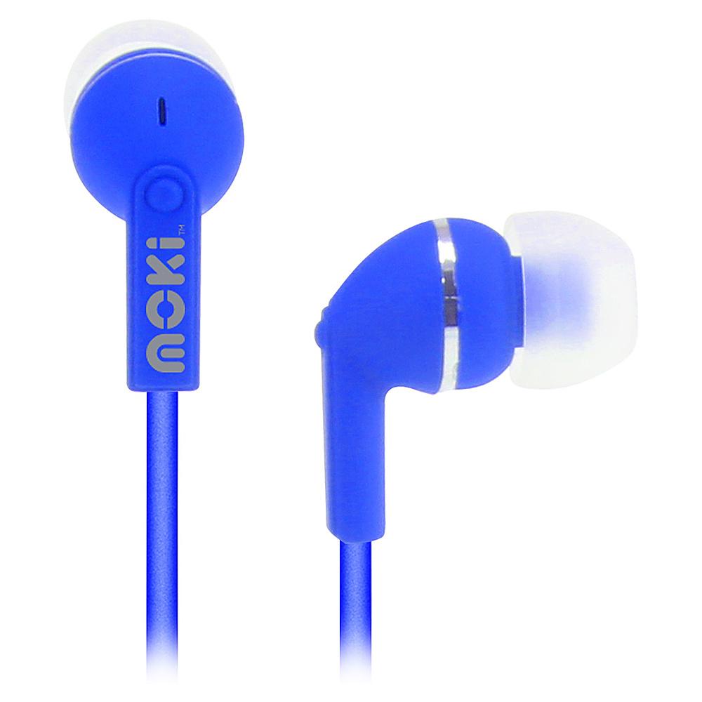 Moki Dots Noise Isolation Earbuds Blue Moki Headphones Speakers