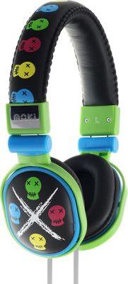 Moki Popper Headphones Skull Black - Moki Headphones & Speakers
