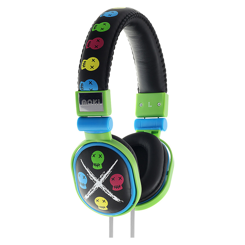 Moki Popper Headphones Skull Black Moki Headphones Speakers