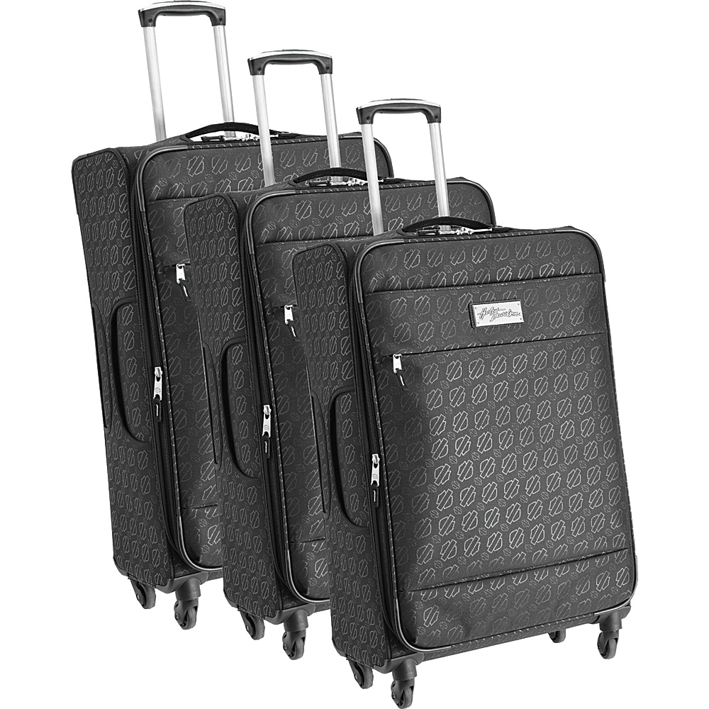 Harley Davidson by Athalon Harley Davidson Monogram 3PC Set Black Harley Davidson by Athalon Luggage Sets