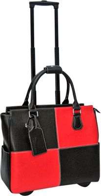 Cabrelli Courtney Color Block 15 inch Laptop Rollerbrief Black/Red - Cabrelli Wheeled Business Cases