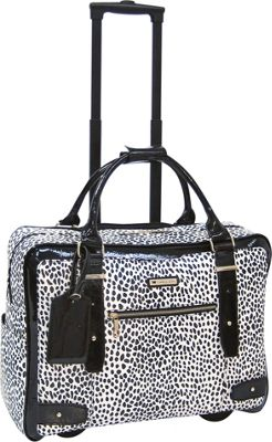 Cabrelli Lena Leopard 15 inch Laptop Rollerbrief Black/White - Cabrelli Wheeled Business Cases